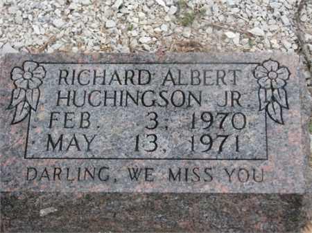 HUCHINGSON, JR, RICHARD ALBERT - Newton County, Arkansas   RICHARD ALBERT HUCHINGSON, JR - Arkansas Gravestone Photos
