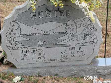 HUNTER, ETHEL P. - Newton County, Arkansas | ETHEL P. HUNTER - Arkansas Gravestone Photos