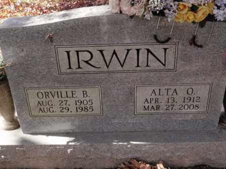 IRWIN, ORVILLE B. - Newton County, Arkansas | ORVILLE B. IRWIN - Arkansas Gravestone Photos