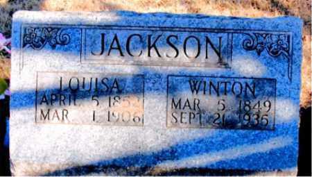 JACKSON, WINTON - Newton County, Arkansas   WINTON JACKSON - Arkansas Gravestone Photos