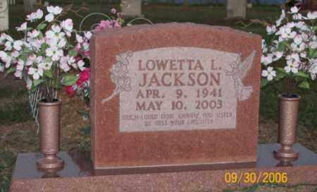 JACKSON, LOWETTA L. - Newton County, Arkansas   LOWETTA L. JACKSON - Arkansas Gravestone Photos