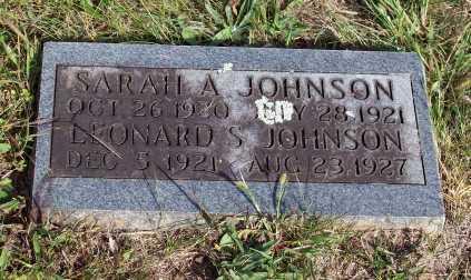 JOHNSON, LEONARD S. - Newton County, Arkansas | LEONARD S. JOHNSON - Arkansas Gravestone Photos