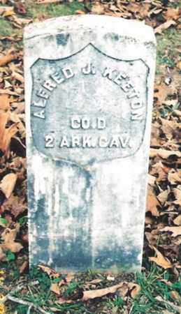 KEETON  (VETERAN UNION), JAMES ALFORD - Newton County, Arkansas | JAMES ALFORD KEETON  (VETERAN UNION) - Arkansas Gravestone Photos