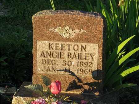 BAILEY KEETON, ANGIE - Newton County, Arkansas | ANGIE BAILEY KEETON - Arkansas Gravestone Photos