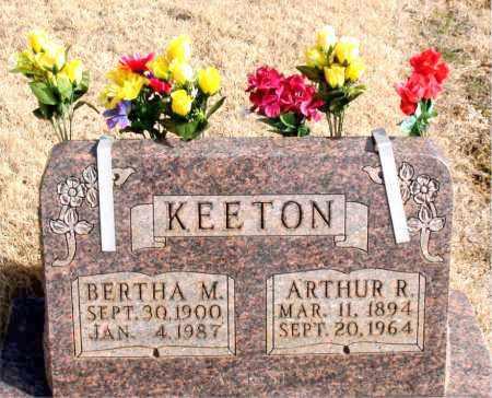 KEETON, ARTHUR R. - Newton County, Arkansas | ARTHUR R. KEETON - Arkansas Gravestone Photos