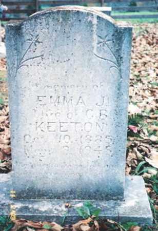 KEETON, EMMA J. - Newton County, Arkansas | EMMA J. KEETON - Arkansas Gravestone Photos