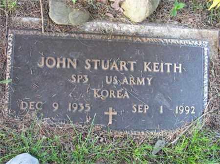 KEITH (VETERAN KOR), JOHN STUART - Newton County, Arkansas | JOHN STUART KEITH (VETERAN KOR) - Arkansas Gravestone Photos