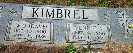 KIMBREL, VENNIE A. - Newton County, Arkansas | VENNIE A. KIMBREL - Arkansas Gravestone Photos