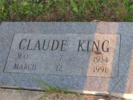 KING, CLAUDE - Newton County, Arkansas   CLAUDE KING - Arkansas Gravestone Photos