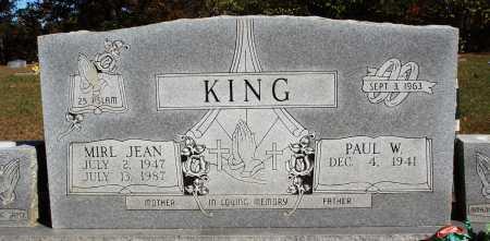 KING, MIRL JEAN - Newton County, Arkansas   MIRL JEAN KING - Arkansas Gravestone Photos