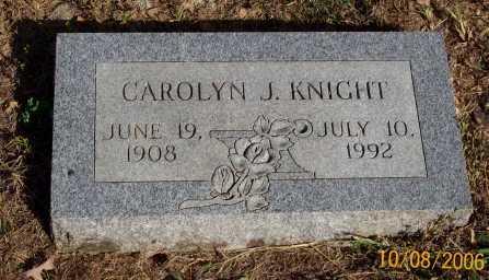KNIGHT, CAROLYN J. - Newton County, Arkansas   CAROLYN J. KNIGHT - Arkansas Gravestone Photos
