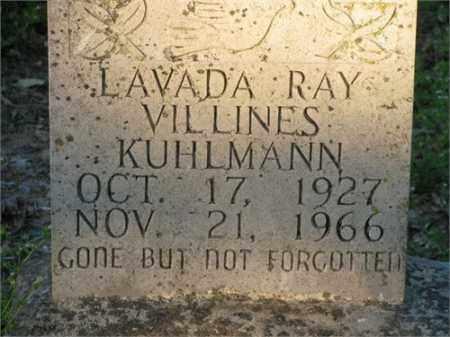 KUHLMANN, LAVADA RAY - Newton County, Arkansas   LAVADA RAY KUHLMANN - Arkansas Gravestone Photos