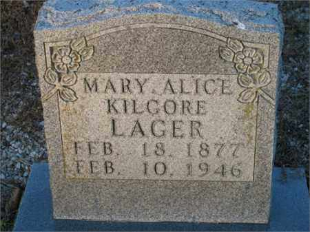 LAGER, MARY ALICE - Newton County, Arkansas   MARY ALICE LAGER - Arkansas Gravestone Photos