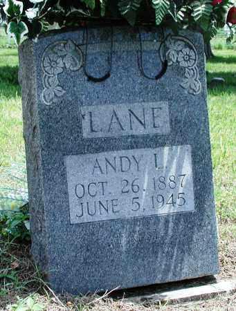 "LANE, ANDREW L ""ANDY"" - Newton County, Arkansas | ANDREW L ""ANDY"" LANE - Arkansas Gravestone Photos"