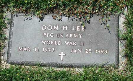 LEE (VETERAN WWII), DON H - Newton County, Arkansas | DON H LEE (VETERAN WWII) - Arkansas Gravestone Photos