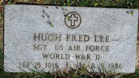 LEE (VETERAN WWII), HUGH FRED - Newton County, Arkansas | HUGH FRED LEE (VETERAN WWII) - Arkansas Gravestone Photos