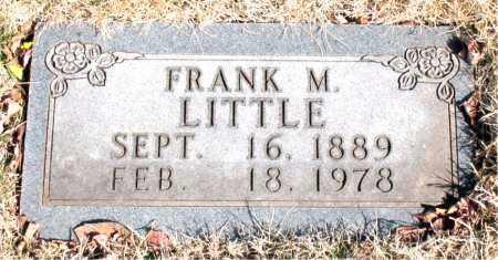 LITTLE, FRANK M. - Newton County, Arkansas | FRANK M. LITTLE - Arkansas Gravestone Photos