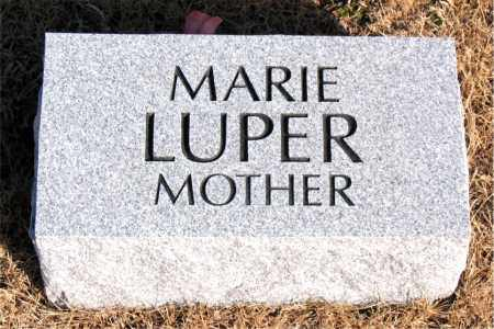 LUPER, MARIE - Newton County, Arkansas | MARIE LUPER - Arkansas Gravestone Photos