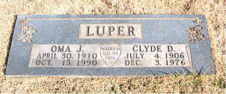 LUPER, CLYDE D. - Newton County, Arkansas   CLYDE D. LUPER - Arkansas Gravestone Photos