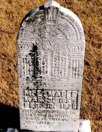 MABEE, M. E. - Newton County, Arkansas | M. E. MABEE - Arkansas Gravestone Photos
