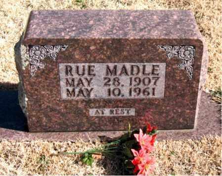 "MADLE, WILLIAM MCRUE ""RUE"" - Newton County, Arkansas | WILLIAM MCRUE ""RUE"" MADLE - Arkansas Gravestone Photos"