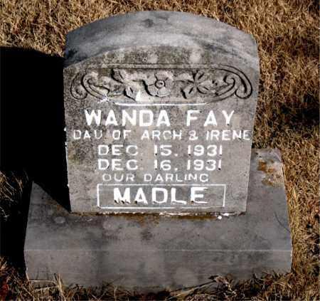 MADLE, WANDA FAY - Newton County, Arkansas | WANDA FAY MADLE - Arkansas Gravestone Photos