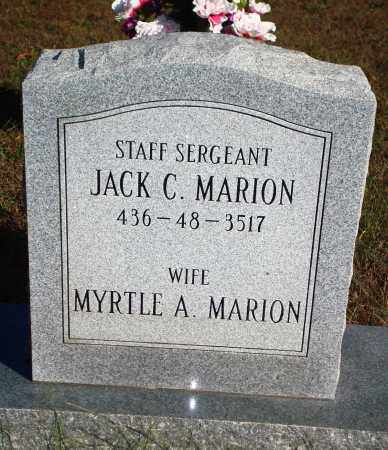 MARION, JACK C. - Newton County, Arkansas | JACK C. MARION - Arkansas Gravestone Photos