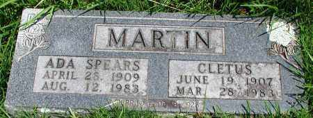 MARTIN, CLETUS - Newton County, Arkansas | CLETUS MARTIN - Arkansas Gravestone Photos