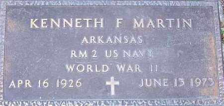 MARTIN (VETERAN WWII), KENNETH F - Newton County, Arkansas | KENNETH F MARTIN (VETERAN WWII) - Arkansas Gravestone Photos