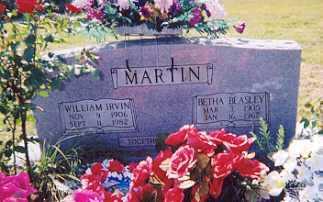MARTIN, WILLIAM IRVIN - Newton County, Arkansas | WILLIAM IRVIN MARTIN - Arkansas Gravestone Photos