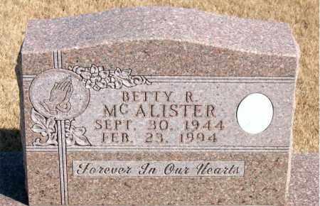 MCALISTER, BETTY R. - Newton County, Arkansas | BETTY R. MCALISTER - Arkansas Gravestone Photos