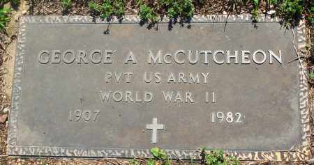 MCCUTCHEON (VETERAN WWII), GEORGE A - Newton County, Arkansas | GEORGE A MCCUTCHEON (VETERAN WWII) - Arkansas Gravestone Photos