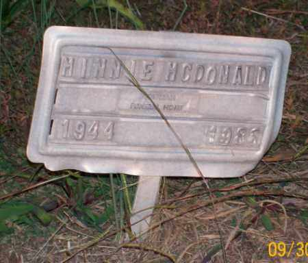 MCDONALD, MINNIE - Newton County, Arkansas | MINNIE MCDONALD - Arkansas Gravestone Photos
