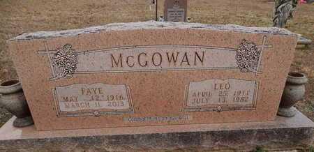 MCGOWAN, LEO - Newton County, Arkansas   LEO MCGOWAN - Arkansas Gravestone Photos