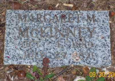 MCKINNEY, MARGARET M - Newton County, Arkansas   MARGARET M MCKINNEY - Arkansas Gravestone Photos