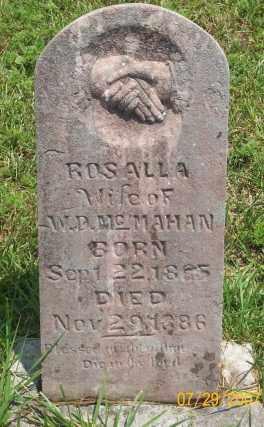 MCMAHAN, ROSALLA - Newton County, Arkansas   ROSALLA MCMAHAN - Arkansas Gravestone Photos