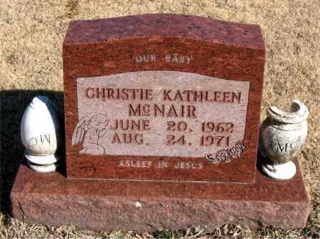 MCNAIR, CHRISTIE KATHLEEN - Newton County, Arkansas   CHRISTIE KATHLEEN MCNAIR - Arkansas Gravestone Photos