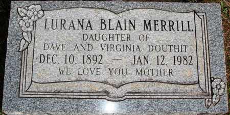 BLAIN MERRILL, LURANA - Newton County, Arkansas | LURANA BLAIN MERRILL - Arkansas Gravestone Photos