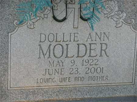 MOLDER, DOLLIE - Newton County, Arkansas   DOLLIE MOLDER - Arkansas Gravestone Photos