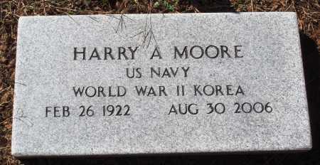 MOORE  (VETERAN 2 WARS), HARRY A - Newton County, Arkansas   HARRY A MOORE  (VETERAN 2 WARS) - Arkansas Gravestone Photos