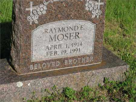 MOSER, RAYMOND E. - Newton County, Arkansas | RAYMOND E. MOSER - Arkansas Gravestone Photos