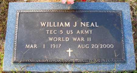 NEAL  (VETERAN WWII), WILLIAM J. - Newton County, Arkansas   WILLIAM J. NEAL  (VETERAN WWII) - Arkansas Gravestone Photos