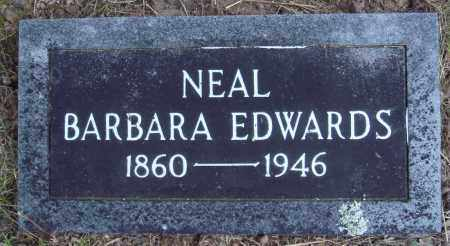EDWARDS NEAL, BARBARA - Newton County, Arkansas | BARBARA EDWARDS NEAL - Arkansas Gravestone Photos