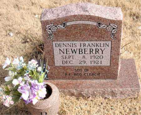 NEWBERRY, DENNIS FRANKLIN - Newton County, Arkansas   DENNIS FRANKLIN NEWBERRY - Arkansas Gravestone Photos