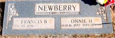 NEWBERRY, ONNIE H. - Newton County, Arkansas | ONNIE H. NEWBERRY - Arkansas Gravestone Photos