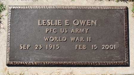 OWEN  (VETERAN WWII), LESLIE E - Newton County, Arkansas | LESLIE E OWEN  (VETERAN WWII) - Arkansas Gravestone Photos