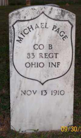 PAGE  (VETERAN UNION), MICHAEL - Newton County, Arkansas   MICHAEL PAGE  (VETERAN UNION) - Arkansas Gravestone Photos