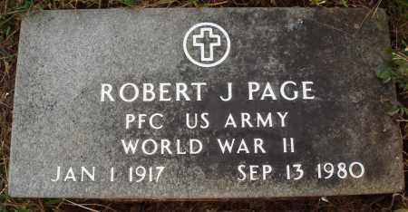 PAGE  (VETERAN WWII), ROBERT J. - Newton County, Arkansas   ROBERT J. PAGE  (VETERAN WWII) - Arkansas Gravestone Photos