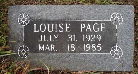 PAGE, ALICE LOUISE - Newton County, Arkansas | ALICE LOUISE PAGE - Arkansas Gravestone Photos