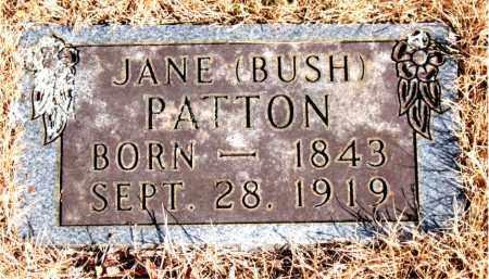 BUSH PATTON, JANE - Newton County, Arkansas | JANE BUSH PATTON - Arkansas Gravestone Photos